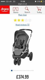 Maxi Cosi Mura 3 plus with New carrycot never used!!!! Changing bag Maxi Cosi!!! Like new