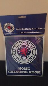 9x10 New metal Rangers Football Club sign