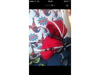 Silvercross surf pram/buggy red