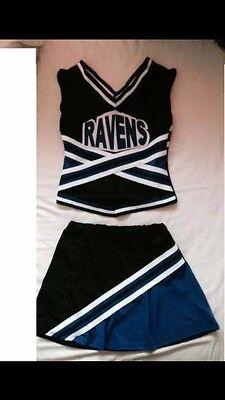 Womens Ladies Cheerleader Costume - Full Costume. Size UK 8-10](Ladies Cheerleader Costumes)
