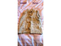 Sleeveless cardigan by Next, size small