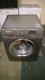 Samsung Ecobubble WF70F5E2W4X 7Kg Washing Machine with 1400 rpm - Inox / Chrome new