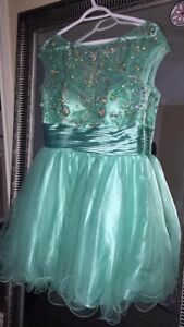 Knee length grad/escort dress