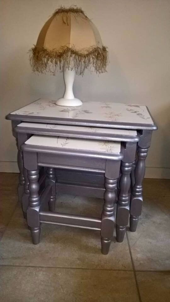 hand painted - chic & unique - Nest of Tables
