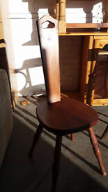 Hardwood spindle chair by Ashford of New Zealand