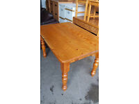 Farmhouse solid pine kitchen table