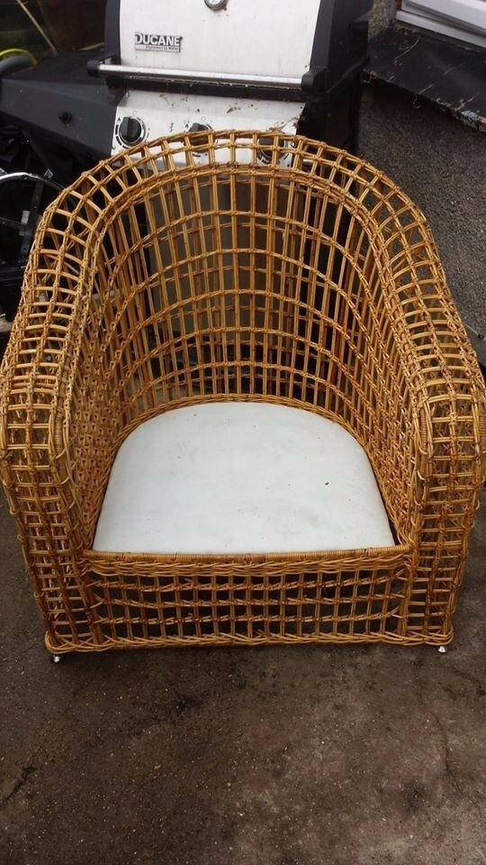 cane arm chair good condition only £5.00