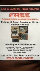 Free pick up of electronic waste
