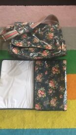 Cath kidson nappy bag and changing mat