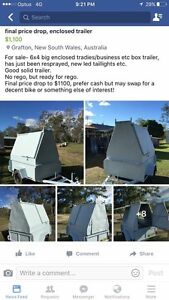 6x4 enclosed trailer Grafton Clarence Valley Preview