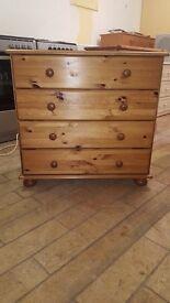 Pine 4 drawer chest