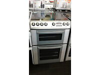 b005 silver hotpoint 60cm double ceramic electric cooker comes with warranty can be delivered