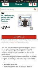 3M tekk Spray Respirator A1P2 mask Shelley Canning Area Preview