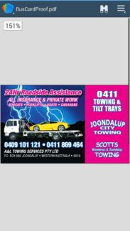 Tow truck and tilt tray service  Bullsbrook Swan Area Preview