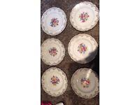 Set of 6 Warrington pottery 22kt gold plates