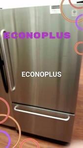 ECONOPLUS LIQUIDATION REFRIGERATEUR INOX GE CONGELATEUR AU BAS TAXES INCLUSES