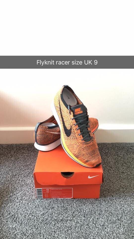 more photos bc1bf 59580 Nike Flyknit Racer Total Orange