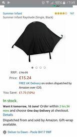 Universal pushchair sunshade