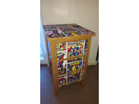 3 DRAWER UNIT – VERY HEAVY – DECOUPAGED IN MARVEL DESIGN – W43 X D47 X H76CM