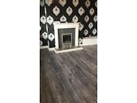 8mm grey and charcoal laminate flooring bundle 5x4 20m2 fully fitted £320