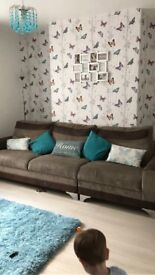 3 seater sofa with foot stall
