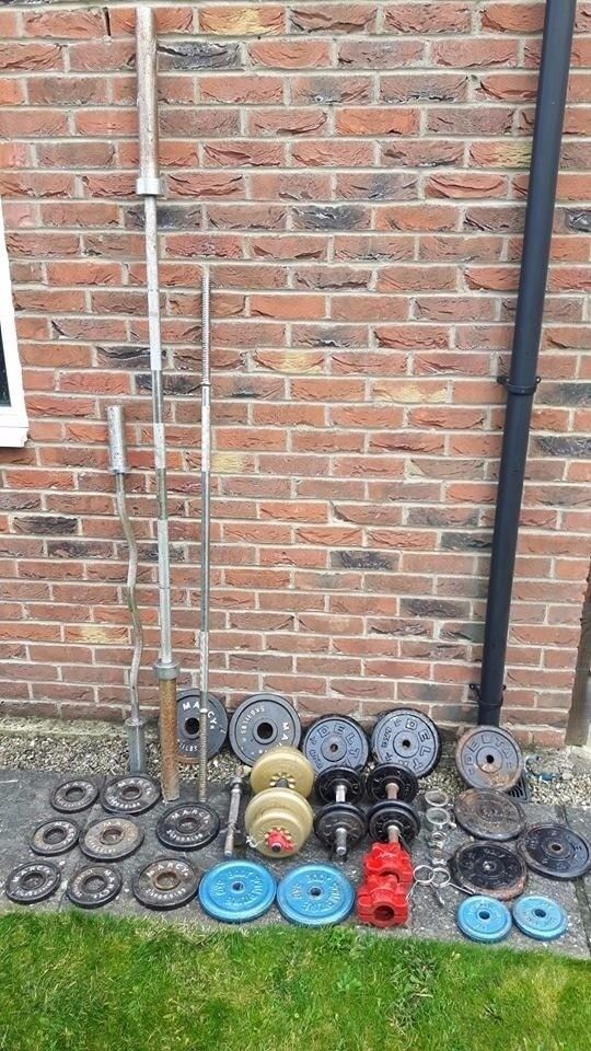 Weight Lifting Weights, Olympic, EZ Bars, Dumbbells Gym Equipment Joblot