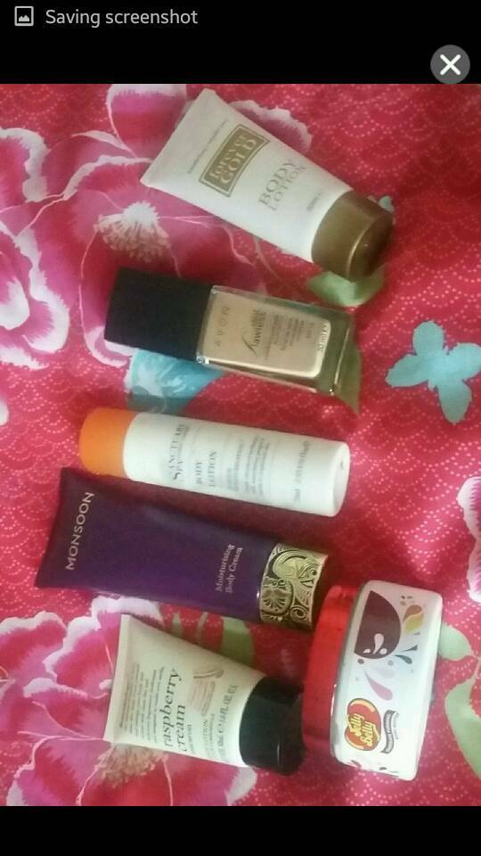 Selection of 5 body lotions and 1 foundation