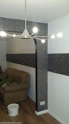Glitter wallpaper can add some panache to the wall