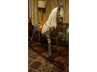 Re-Uphosltered, Upcycled Rocking Horse