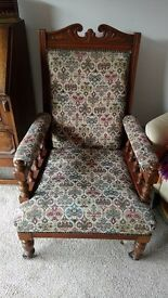 Antique Victorian Liberty Style Armchair