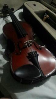 Violin 4/4 size perfect condition + spare strings, rest and books