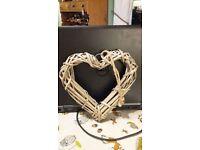 Woven wooden heart