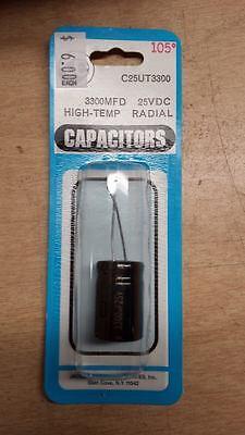 Je Capacitor C25ut3300 3300mfd 25vdc 4e