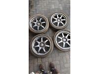Mugen GP R18x7.5 ET48 forged wheels