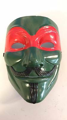 Anonymous Custom Hand painted Guy Fawkes Mask TMNT Ninja turtle - Ninja Turtle Masks