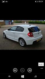 2009 59 bmw 118d sports 3-door white full m-sport spec leathers low miles history mint cond £5750