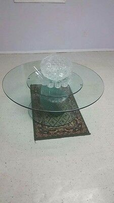glass table and punch bowl