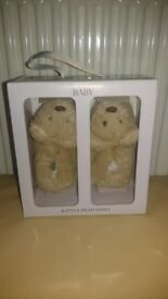 M&S Rattle Pram Shoes, Bear, 3-6 months, unopened