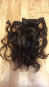 8 piece brown clip in extensions