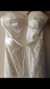 Champagne Custom made prom dress-Never worn