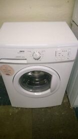 white zanussi 6kg 1000 spin washing machine