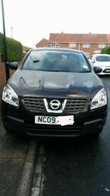 Nissan Qashqai Visia, Black, Low mileage, 12 months MOT. Great Condition!