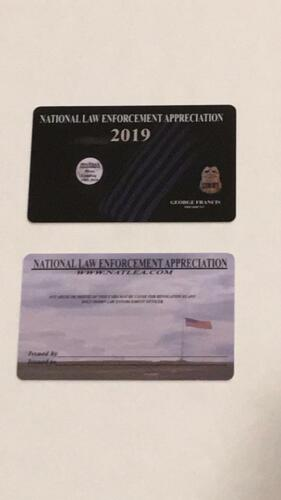 2019 NATIONAL LAW ENFORCEMENT CARD SHOW COURTESY SUPPORT POLICE PBA PD FOP SBA