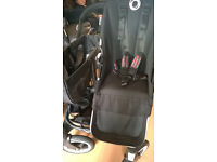 bugaboo donkey in silver 2015 with extras