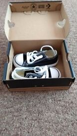 Black converse, toddler size 5, NEW in a box