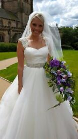 Justin Alexander 8779 RRP £1600 Princess Wedding Dress with optional straps and BRAND NEW UNDERSKIRT