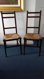 Pair of Stylish Antique Glasgow Style Chairs