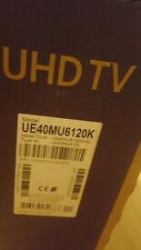 Samsung tv UE40MU6120k new in box