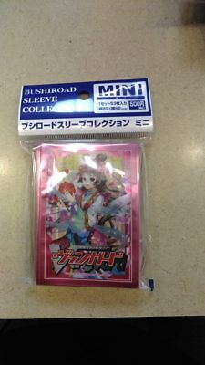 BushiRoad Card Sleeves 62x89mm Cardfight Vanguard pack sealed pink