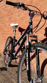 "Ladies 26""wheel Free Spirit Tracker Plus 18 speed mountain bike- as new"